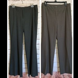 J Jill Dress Pants, 2 PAIR, Flat Front, Bootcut, 8